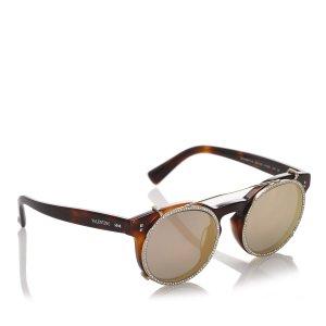 Valentino Round Mirror Sunglasses