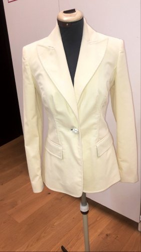 C. Valentino Long Blazer cream
