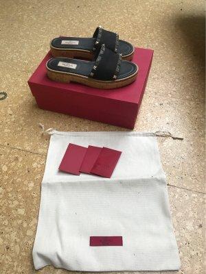 Valentino Platform Sandals black-silver-colored