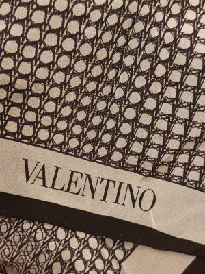 Valentino Zomersjaal zwart-grijs