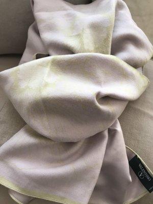 Valentino Sciarpa di seta verde pallido-malva