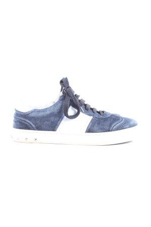 Valentino Schnürsneaker blau-weiß Elegant