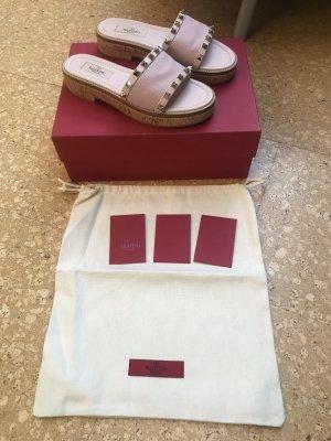 Valentino Platform Sandals dusky pink