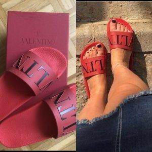 Valentino Sandalo outdoor rosso Materiale sintetico