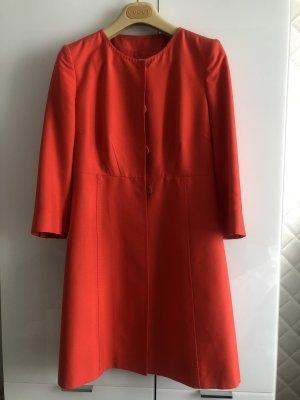 C. Valentino Krótki płaszcz jasnoczerwony Jedwab