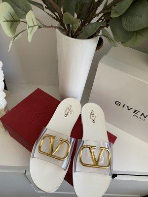 VALENTINO di Paolo Comfortabele sandalen wit-goud