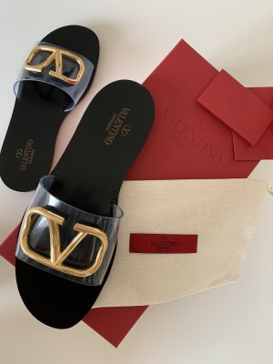 Valentino Slider-Sandalen mit Vlogo-Accessoire und 5 MM Absatz