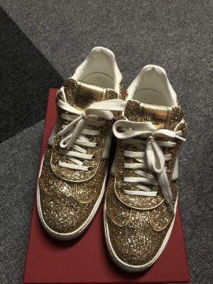 Valentino Sneaker, Gr.39, gold Glitzer