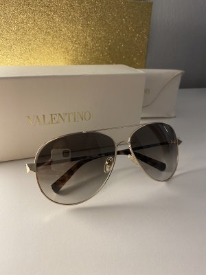 By Mário Valentino Aviator Glasses brown-gold-colored