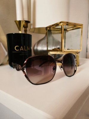 Valentino Sonnenbrille Braun grau Muster Print