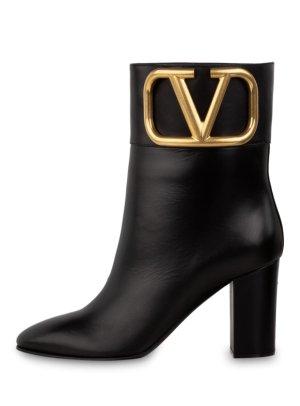 Valentino Botki z wycięciem czarny