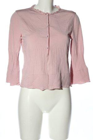 Valentino Cardigan in maglia rosa stile professionale