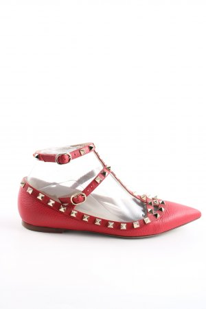 Valentino T-Strap Sandals red casual look
