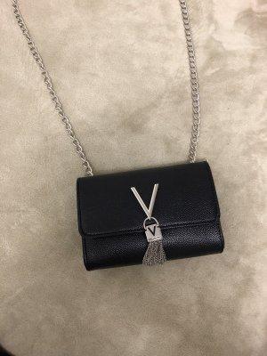Valentino Minibolso negro-color plata