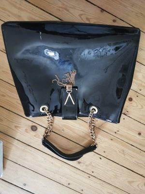 Valentino Tasche schwarz Gold Lack