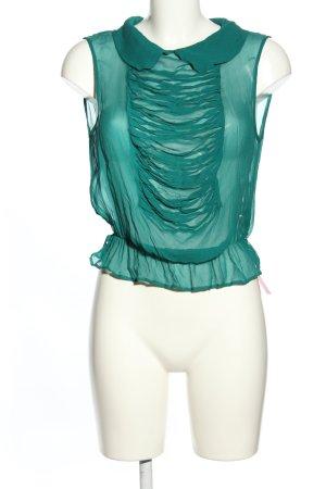 Valentino Transparenz-Bluse türkis Elegant
