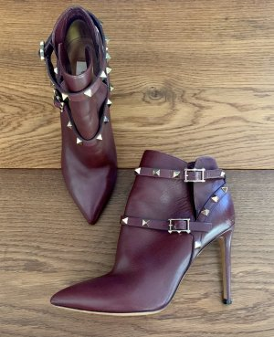 Valentino Cut Out Booties carmine