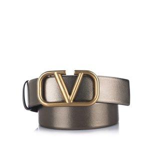 Valentino Belt bronze-colored leather
