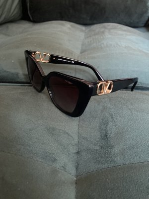 Valentino Butterfly Glasses black-gold-colored mixture fibre