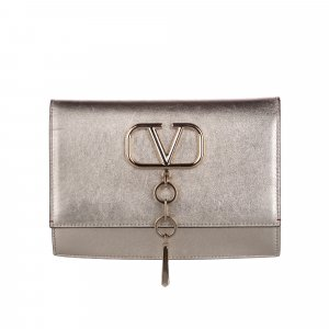 Valentino V-Ring Leather Crossbody Bag