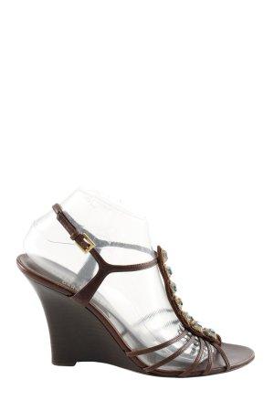 Valentino Wedges Sandaletten braun Casual-Look