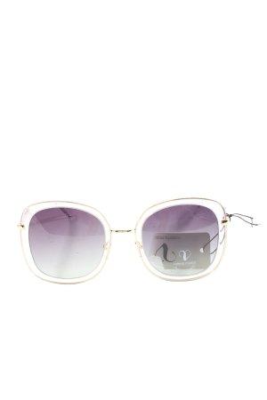 valeria mazza eckige Sonnenbrille goldfarben-lila Casual-Look