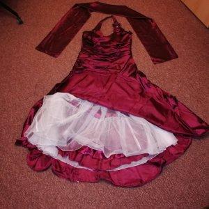 valérie Brautkleid Abendkleid Bordeaux