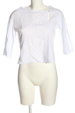Valerie Gregori McKenzie Cropped shirt wit casual uitstraling