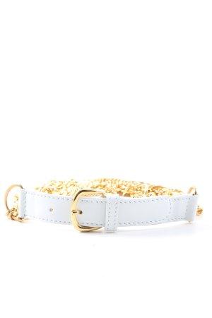 Valery Blu Pasek z łańcuchem biały-złoto Elegancki