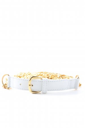 Valery Blu Chain Belt white-gold-colored elegant