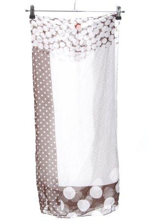 Valery Jupe portefeuille blanc-brun motif de tache style décontracté