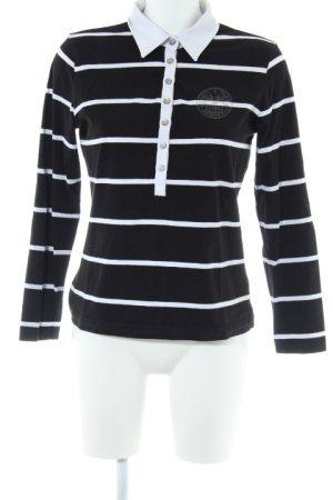 Valiente Longshirt weiß-schwarz Motivdruck Casual-Look
