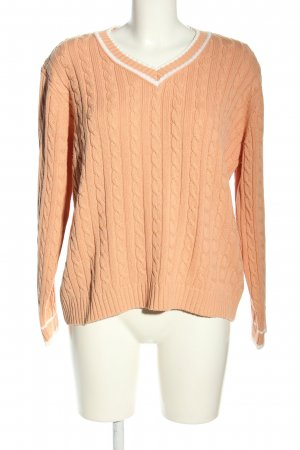 Valiente Cable Sweater nude cable stitch casual look