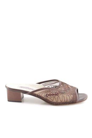valleverde Sandalo con tacco marrone stile casual