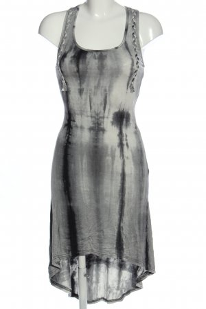 Valleygirl High Low Dress light grey-black allover print elegant