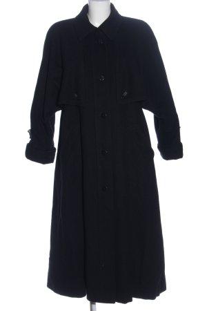 Valmeline Długi płaszcz czarny W stylu casual