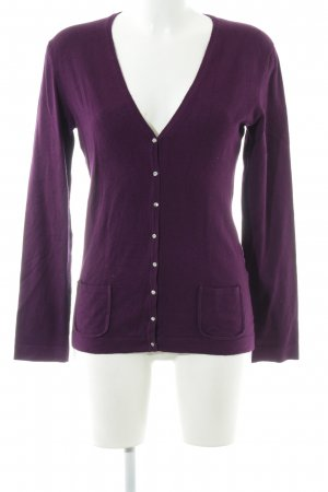 Value Strick Cardigan lila Casual-Look