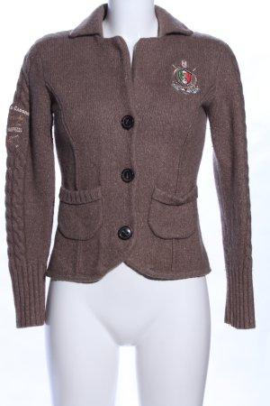 Value Chaqueta de lana marrón look casual