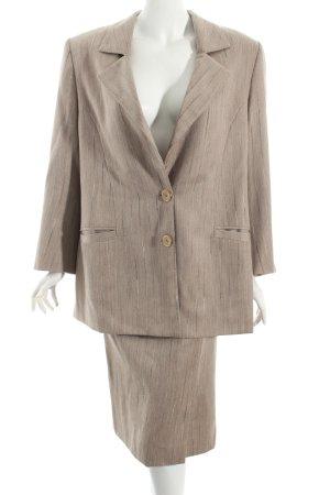 Valvason Serodine Turry Kostüm beige Nadelstreifen Eleganz-Look