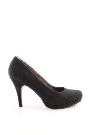 van der Laan High Heels schwarz Casual-Look