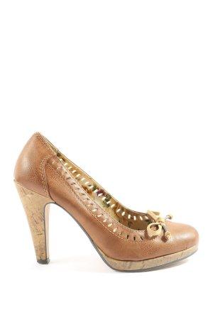 van der Laan High Heels braun Casual-Look