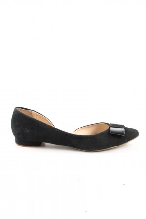 van der Laan Ballerina di pelle verniciata nero stile casual
