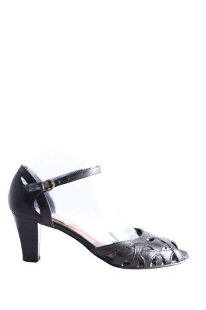 van der Laan Peeptoe Pumps schwarz Casual-Look
