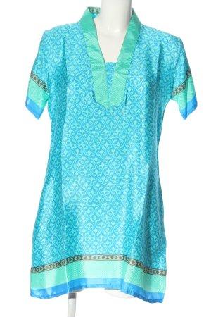 van Deurs Danmark Vestido tipo túnica turquesa-azul look casual