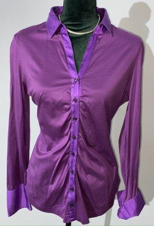 van Laack Splendor Blouse lilac-lilac cotton