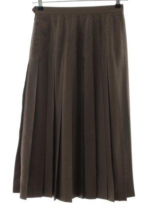 van Laack Plaid Skirt bronze-colored business style