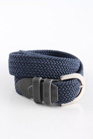 van Laack Braided Belt blue-light grey casual look
