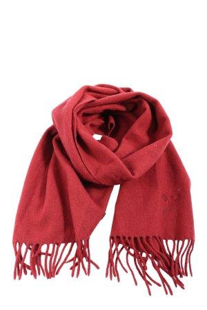van Laack Fringed Scarf red casual look