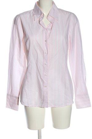 van Laack Shirt Blouse pink-white striped pattern casual look