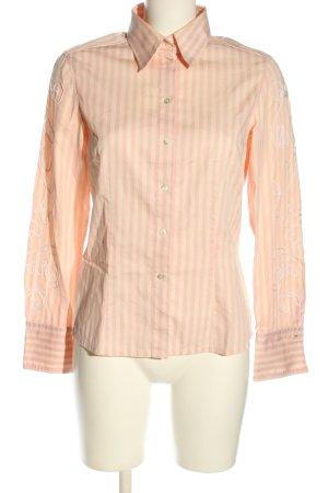 van Laack Hemd-Bluse blassgelb-pink Streifenmuster Casual-Look